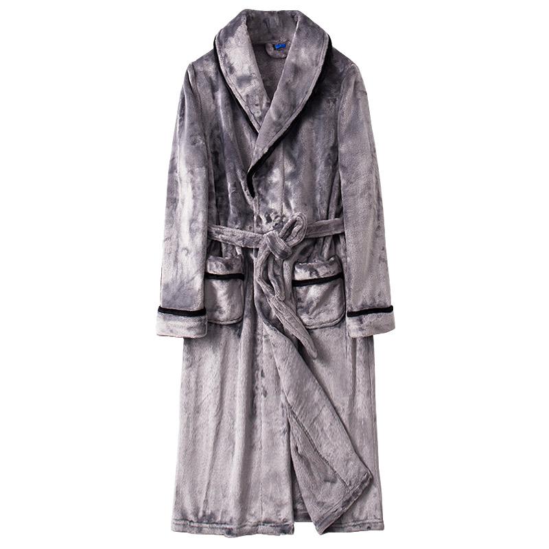冬季情侣加长款法兰绒男士睡袍性价比好不好