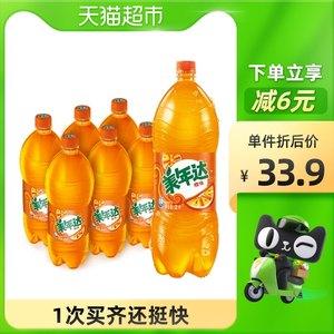 美年达橙味碳酸饮料果味型汽水2Lx6瓶百事出品