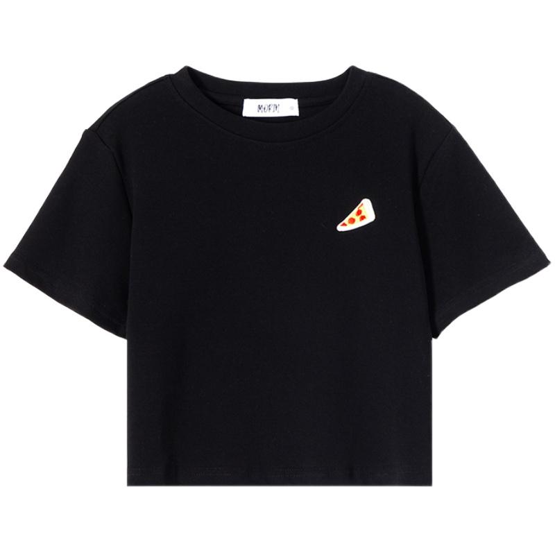 墨锦刺绣短款女短袖2021年新款t恤质量如何