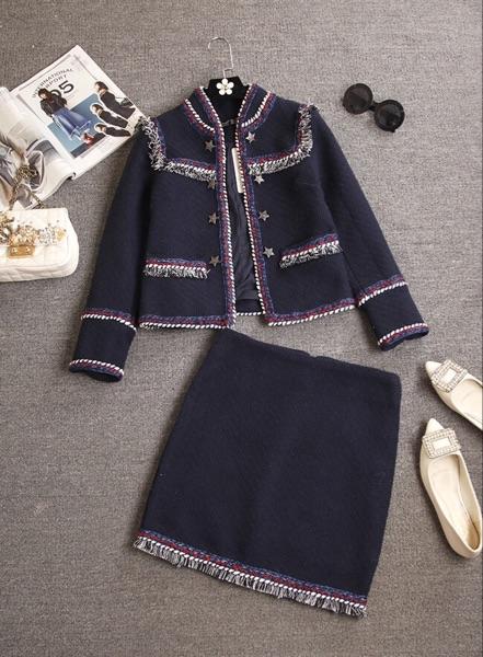 2016 малые поля дышать сладкий осень новый короткий шерстяные пальто юбки стильный костюм из двух частей платье хип юбки женщин