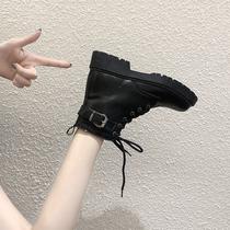 马丁靴女2019秋季新款韩版百搭英伦风小短靴春秋单靴厚底机车靴子