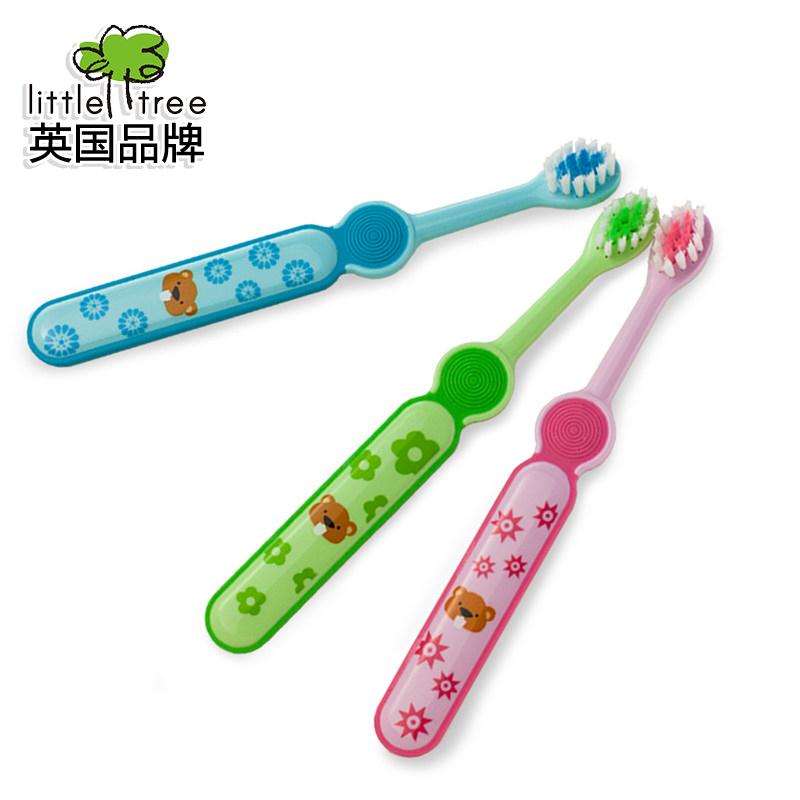 英國小樹苗小圓頭嬰兒訓練牙刷兒童乳牙刷軟毛寶寶牙刷1~2~3~4歲