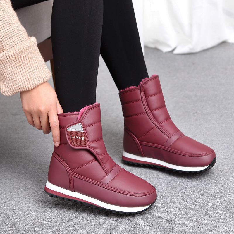 新款东北冬季韩版时尚轻便保暖加绒防水防滑雪地靴女棉鞋短筒棉靴