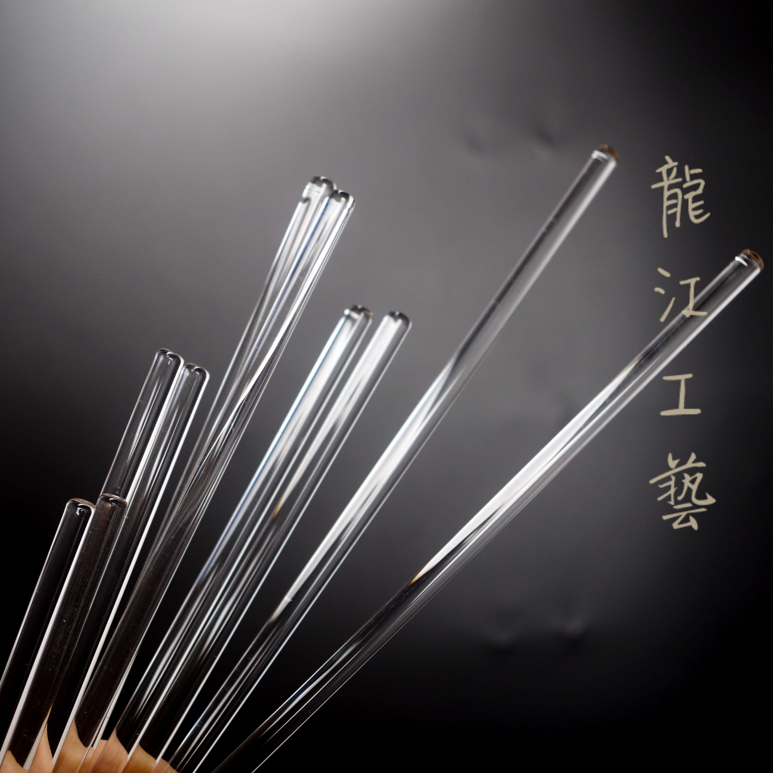 2支装多长度可选DIY手工玻璃搅拌棒 耐热实心 肥皂口红自制工具