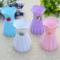 白色塑料花瓶 花器 丝网花材料丝袜花材料花盆桌上摆件 彩色花瓶