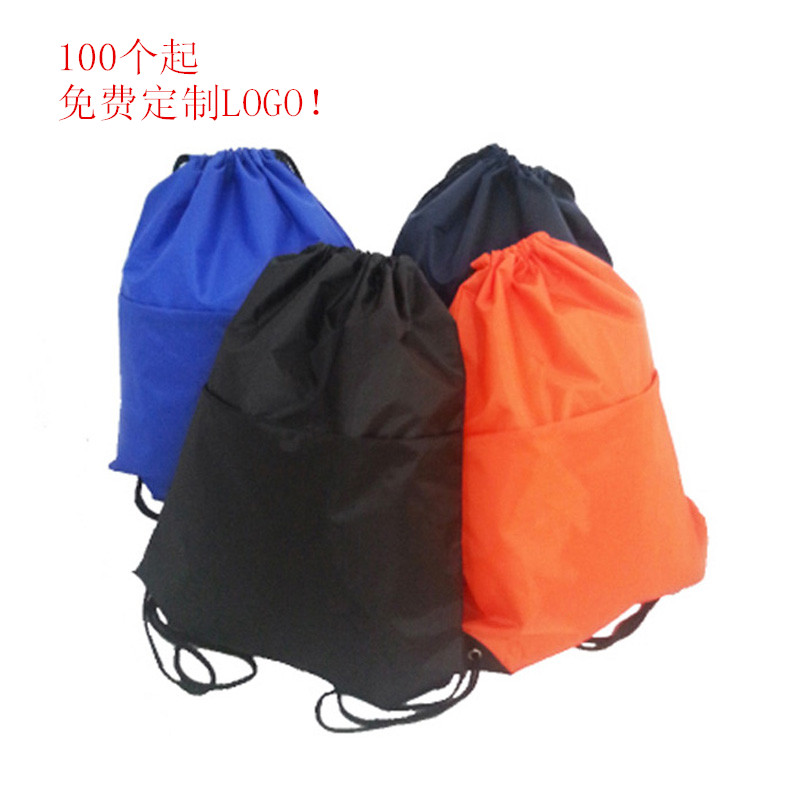 Anti splashing and drawstring swimming bag with binding mouth backpack for easy outdoor sports DIY custom logo folding