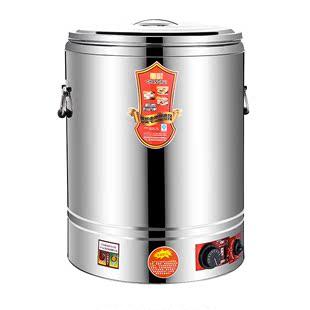 電加熱不鏽鋼煮粥保温桶商用滷水桶湯麪爐月子開水桶大容量蒸煮桶