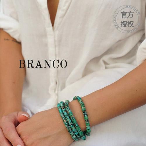 美国产BRANCO Heritage 手造天然绿松石 银珠手链手串/项链吊串 Изображение 1