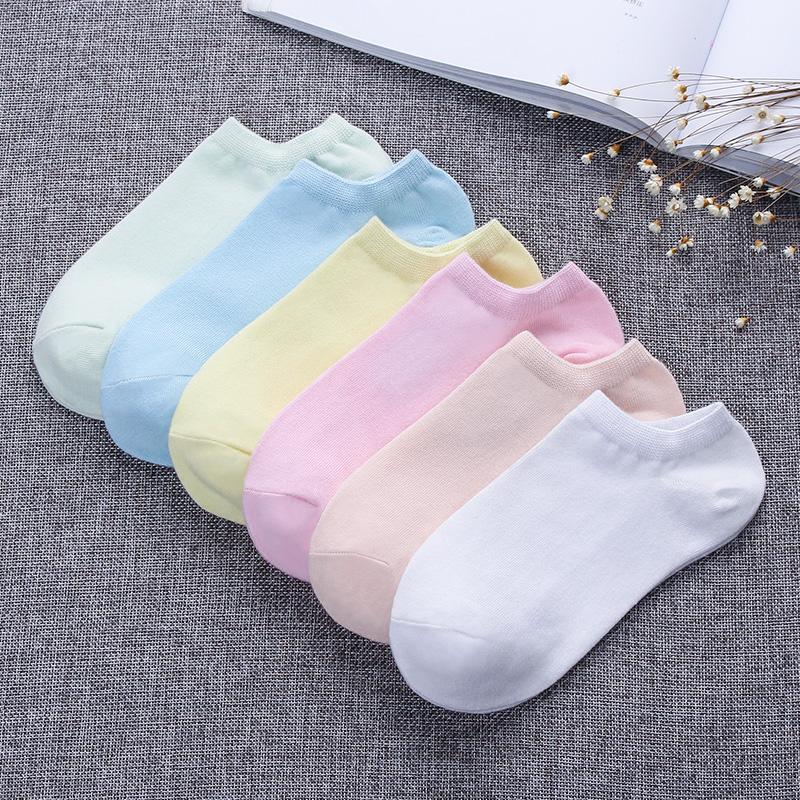 袜子女短袜夏季超薄船袜纯棉低帮糖果色棉袜韩国可爱学生纯色女袜