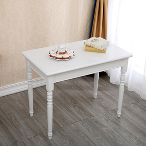地中海简约后现代实木腿美式餐桌