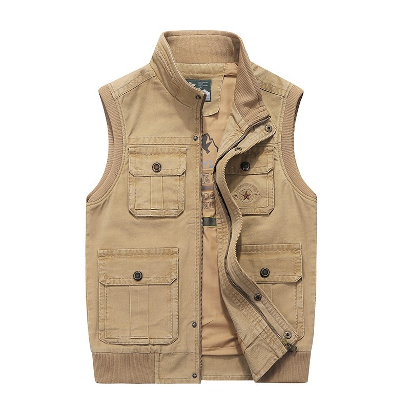 Double side Vest Large Mens size, multiple pockets, fattening and fattening mens 2020 double side casual mens Vest
