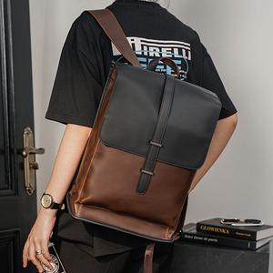 新款复古大容量双肩包 韩版男包男士旅行背包时尚书包潮流电脑包