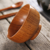 Wooden Serving Bowls & Cutlery