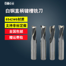 Straight Handle Keyway Milling cutter Double-edged Bai knife bit 2 blade