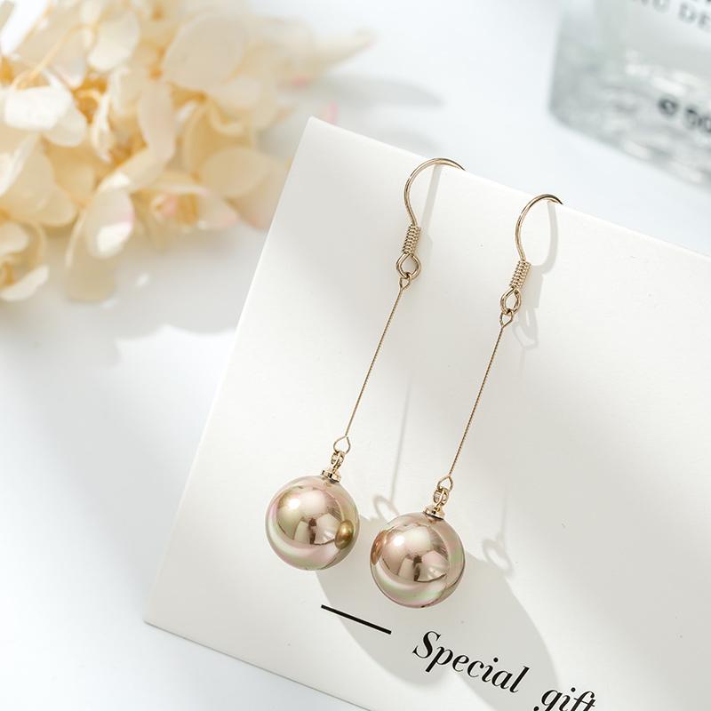 11月17日最新优惠冷淡风珍珠耳环女长款韩国纯银耳钉
