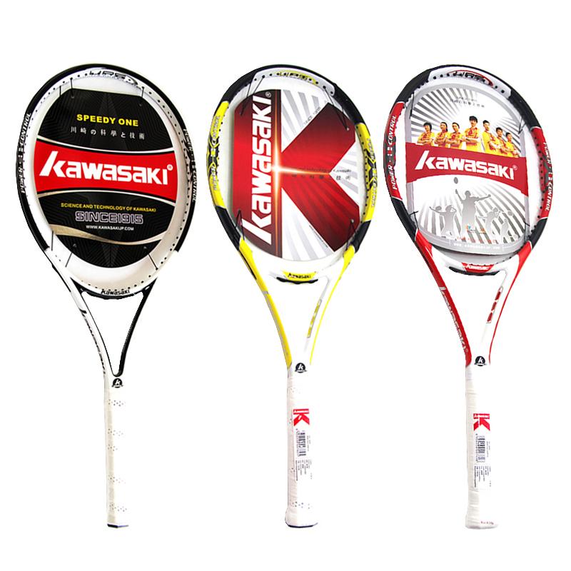 川崎Kawasaki碳素网球拍 男女初学者 入门级单人男女大学生网球拍