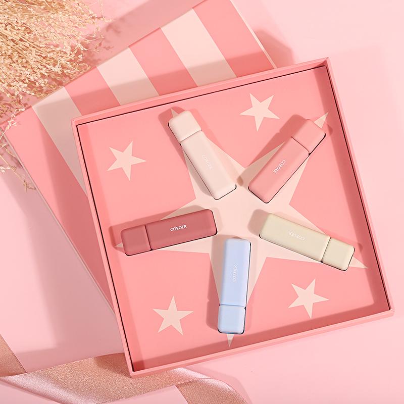 可瑞尔五角星口红礼盒,惊喜礼物送给女朋友