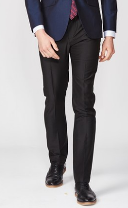 IWODE / Evo customized mens suit pants black trousers are not stained with wool, and can be made into straight leg pants
