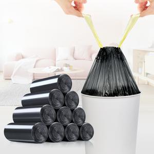 易时代自动收口加厚家用垃圾袋 点断式手提抽绳密封环保垃圾袋