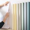 墙纸自粘温馨装饰纯色柜子背景墙贴好用吗
