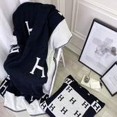 轻奢H字母小时代飞行毯办公室午睡针织沙发盖毯披肩夏季小毛毯子