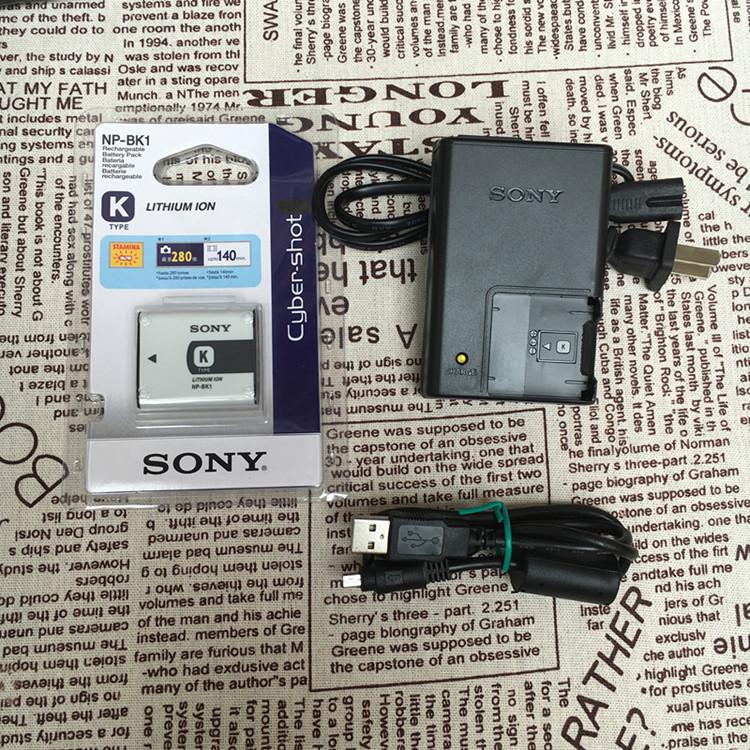 索尼DSC-W190 W180 W370 S750 S980 相机NP-BK1充电器 数据线电池