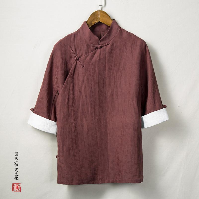 中国风男装汉服夏季棉麻中式工作服98.00元包邮