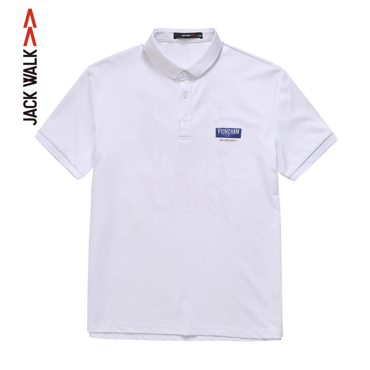 La chapel mens jackwalk casual Polo Shirt New Summer 2019 printed collar short sleeve T-shirt for men
