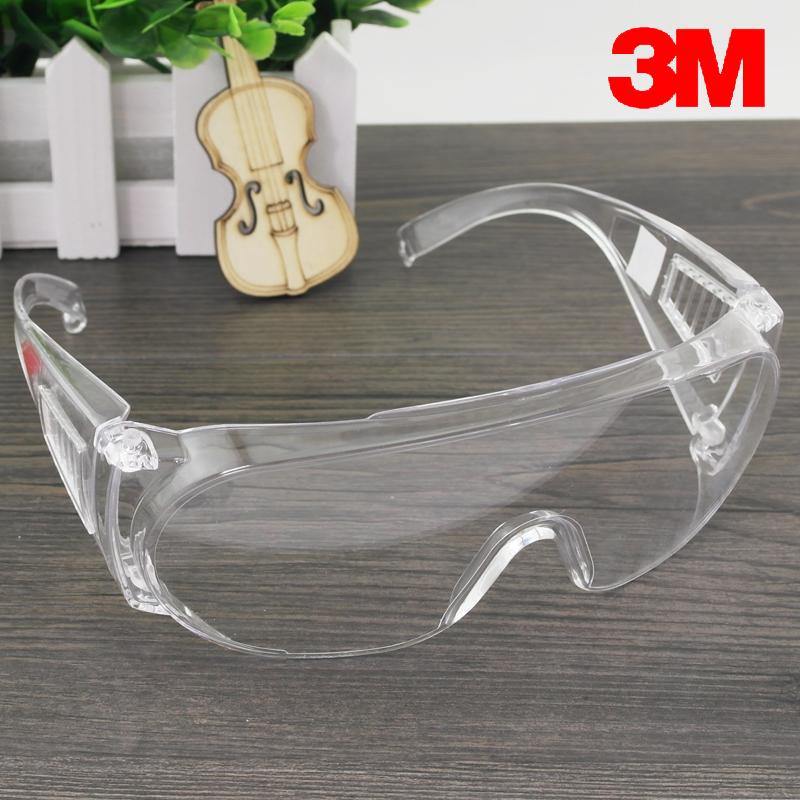 3M1611护目镜防沙骑行摩托车防风防尘透明劳保防飞溅防护眼镜男女