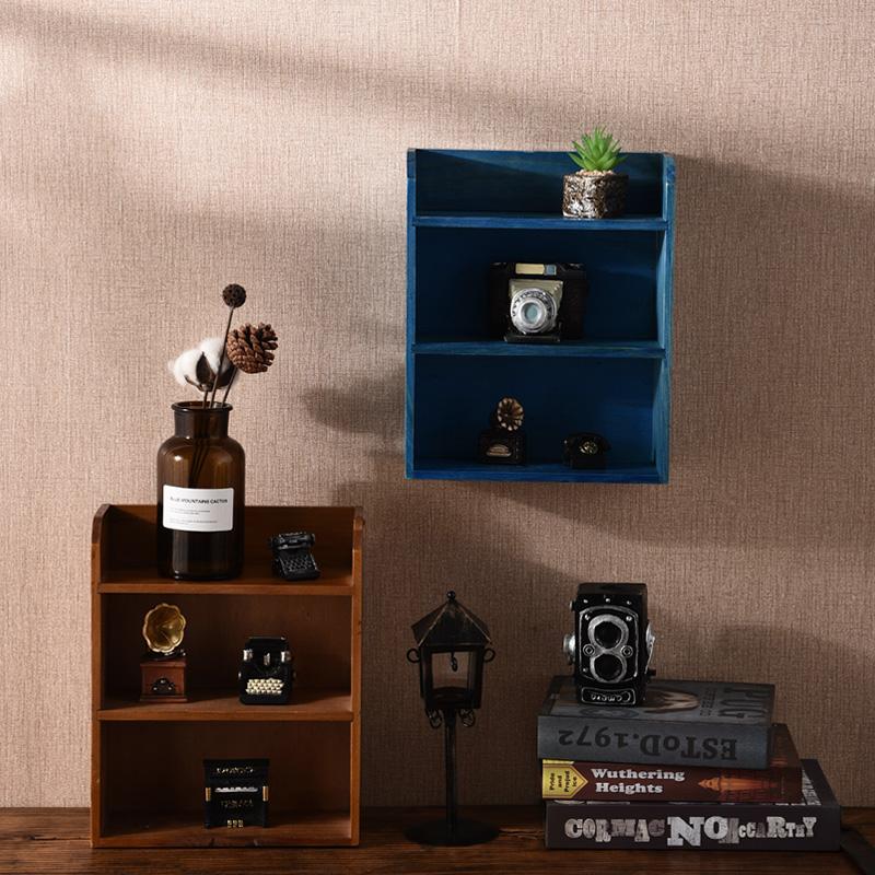 实木化妆品整理储物柜宿舍桌上收纳盒迷你展示架木质收纳盒置物架