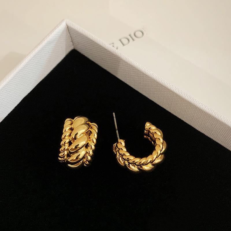 BOONEE欧美风复古气质耳环女2020年新款潮个性高级设计感耳钉耳饰