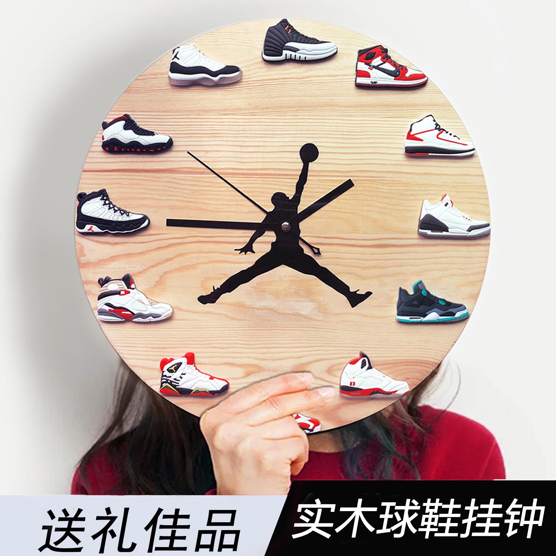 AJ挂钟球鞋模型时钟篮球创意飞