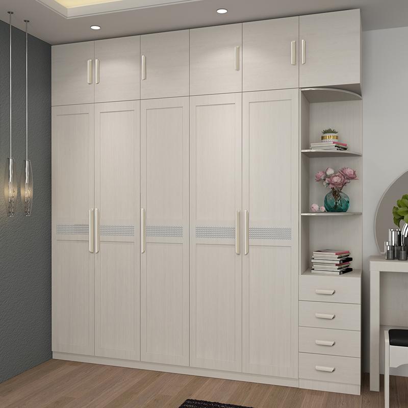衣柜2345两门三门四门五门拉手大衣柜简约现代平开门板式卧室家具