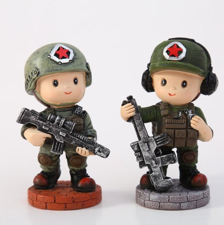 创意特种兵摆件军人士兵模型警察人物公仔摆设创意男友生日礼物