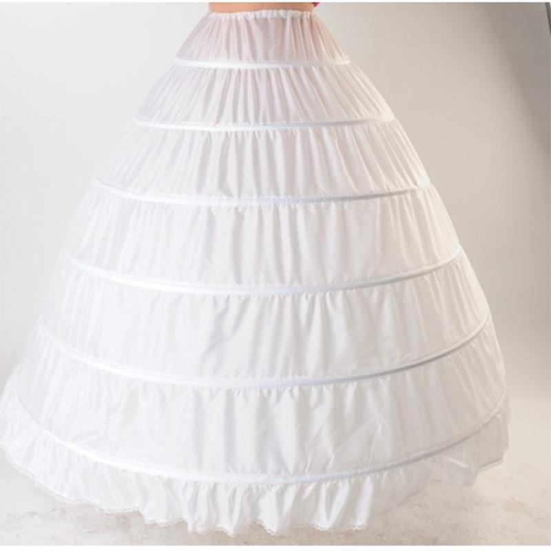 Большой двор юбки негабаритный свадьба паньер перетащить хвост 6 юбка подкладка паньер пряжа невеста 6 круг поддержка юбка подкладка юбка подкладка