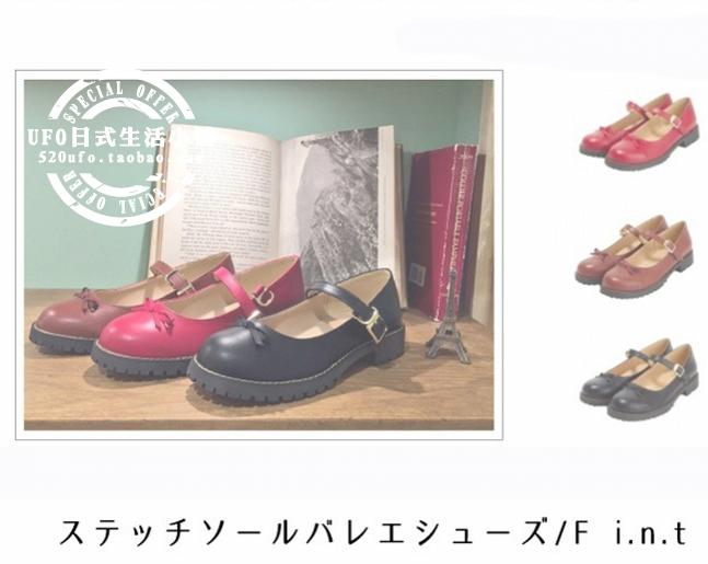 秋の新作FINT Lolitaリボンの丸みを帯びた赤い靴のマリッジシューズ