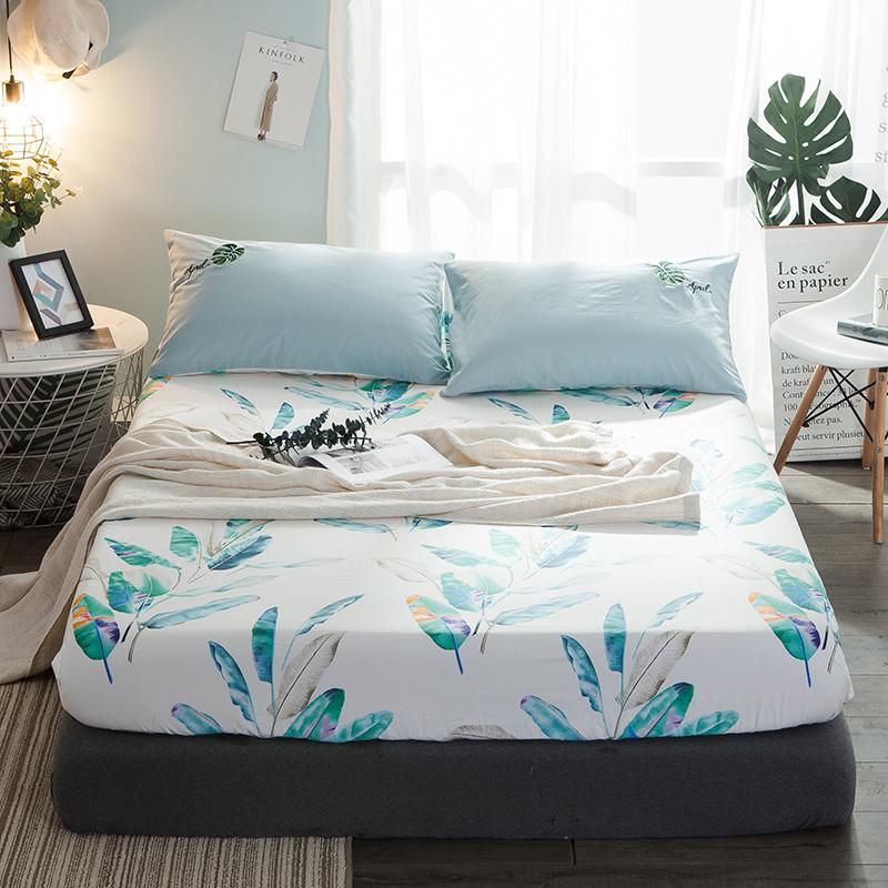 Нордический хлопок кровать предприятия один 1.8m матрас защитный кожух простой хлопок лист постельное покрывало сиденье мечтать мысль матрас крышка
