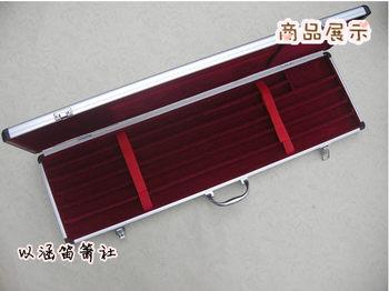 7支装铝合金箱/竹笛降b调笛子盒