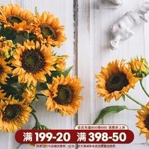向日葵仿真花摆设干花客厅大束假花插花艺用品摆件餐桌拍照装饰花