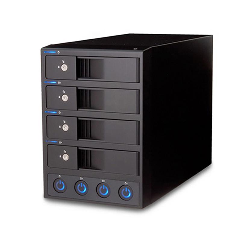 世特力多4盘位外置硬盘盒3.5英寸硬盘柜独立电源机械硬盘箱USB3.0