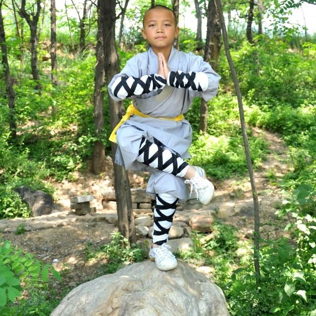 Специальные предложения/профессиональные боевых искусств Одежда/монах/практике костюмы/серый хлопка плеча монах боевых искусств Одежда от Kupinatao