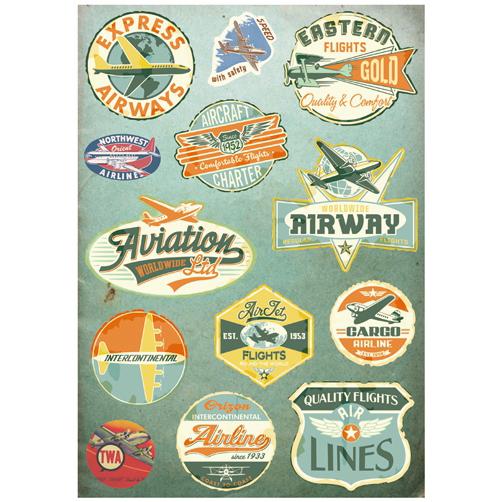 复古航空飞行 rimowa日 默瓦 旅行箱贴纸 拉杆箱贴纸 行李箱贴纸