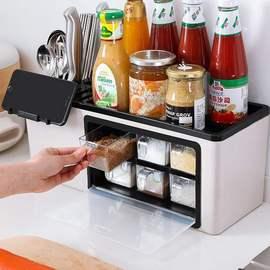 套装盒置冲冠q厨房物架整理袋餐具收纳盒调味品调料瓶架罐用品图片