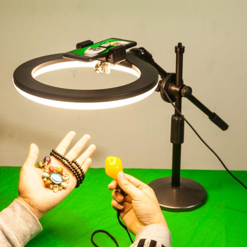 LED摄影灯补光灯直播珠宝拍照柔光灯小型静物饰品拍摄古玩打光灯
