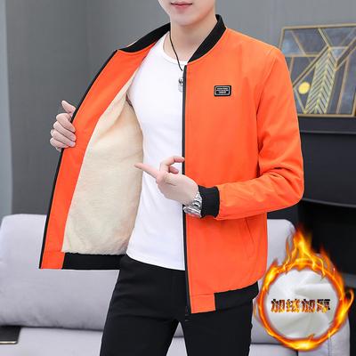 男士棉衣外套秋冬装2020新款冬季<em>夹克</em>韩版加绒加厚衣潮流J15-P35