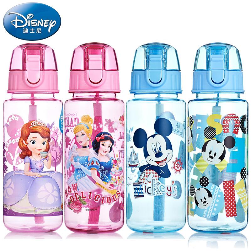 迪士尼塑料杯學生 水杯兒童便攜水壺防漏杯子 直飲杯大容量