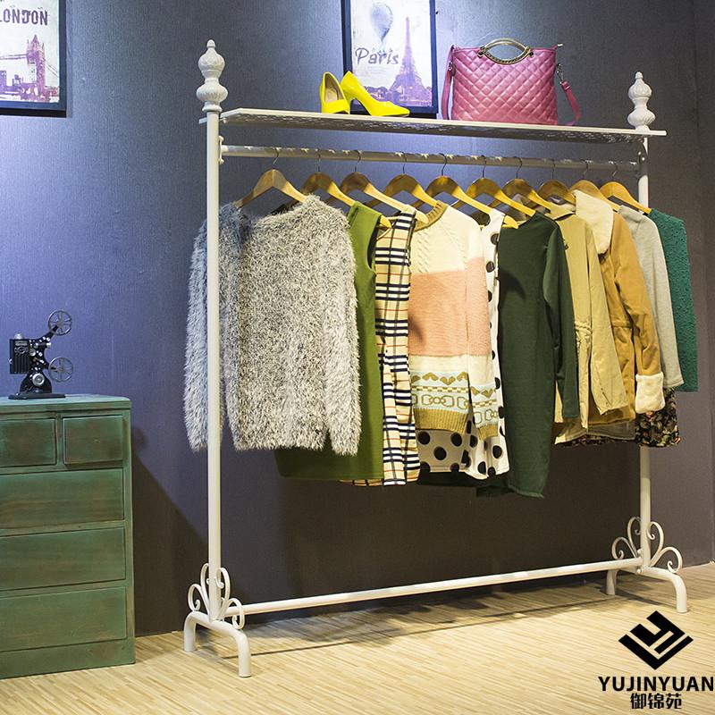 Континентальный железо этаж вешалка одежда магазины инструмент одежда кулон дисплей одежда шоу полка весить одежду полка