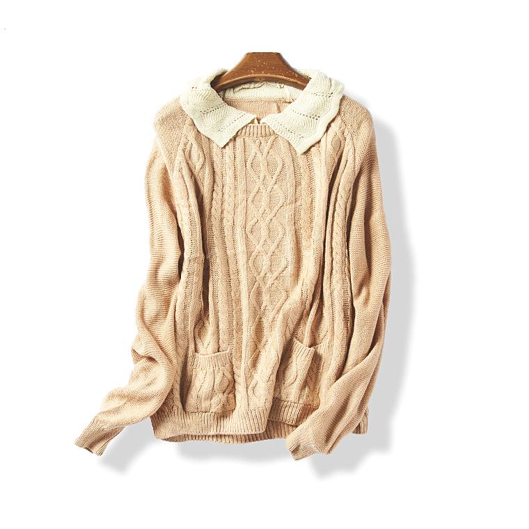 36648 秋季新款女装简约时尚学院风百搭针织套头长袖毛衣7月7