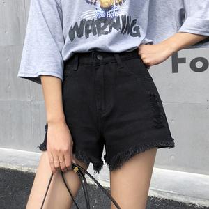 实价~视频~3659#夏季新款chic流苏毛边不规则高腰牛仔短裤女,女装牛仔裤,惜韩