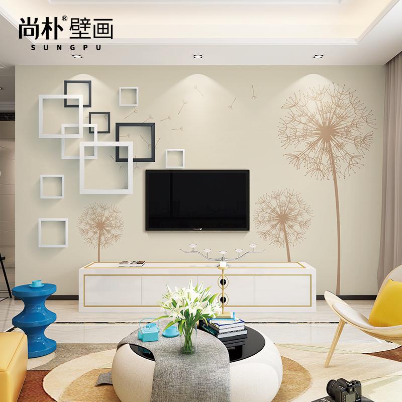 3d立体电视背景墙壁纸简约现代卧室客厅无纺布墙纸影视墙墙布壁画